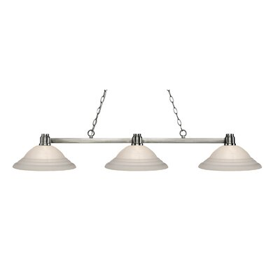 Centeno 3-Light Billiard Light Finish: Brushed Nickel