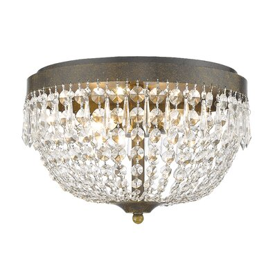 Danza 4-Light Flush Mount Finish: Golden Bronze