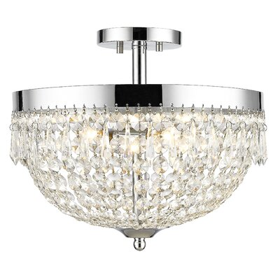 Dora 4-Light Semi Flush Mount Finish: Chrome