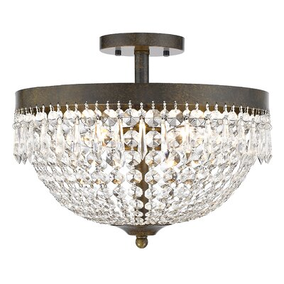 Danza 4-Light Semi Flush Mount Finish: Golden Bronze