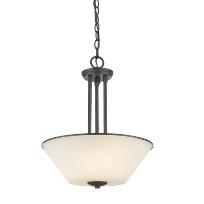 Hwang 3-Light Bowl Pendant Finish: Bronze