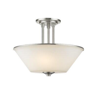 Hwang 3-Light Semi Flush Mount Finish: Brushed Nickel