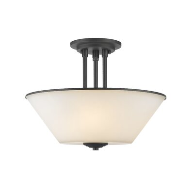 Hwang 3-Light Semi Flush Mount Finish: Bronze