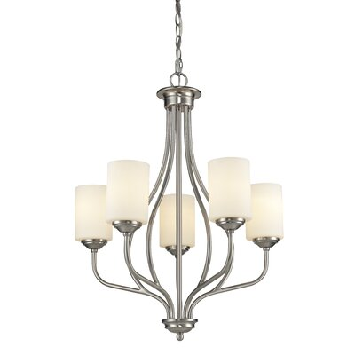 Weatherly 5-Light Shaded Chandelier