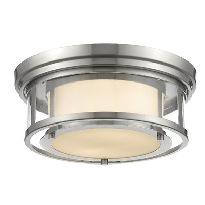 Ceniceros 2-Light Flush Mount Finish: Brushed Nickel