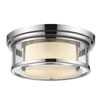 Ceniceros 2-Light Flush Mount Finish: Chrome