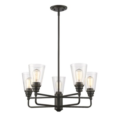 Clayton 5-Light Semi Flush Mount Finish: Olde Bronze