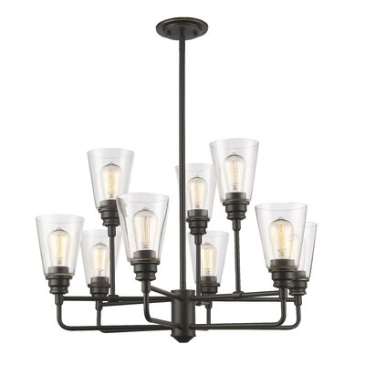 Clayton 9-Light Semi Flush Mount Finish: Olde Bronze