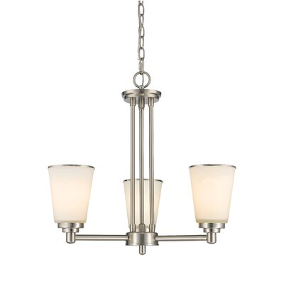 Jarra 3-Light Shaded Chandelier Finish: Brushed Nickel