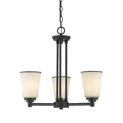 Hwang 3-Light Shaded Chandelier Finish: Bronze