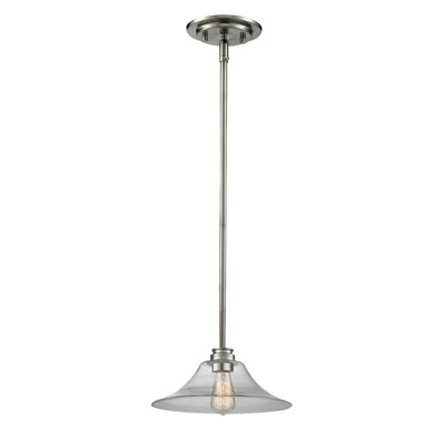 Clayton 1-Light Mini Pendant Finish: Brushed Nickel