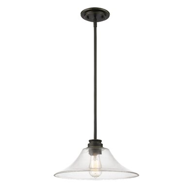 Clayton 1-Light Mini Pendant Finish: Olde Bronze