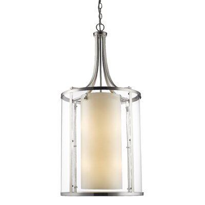 Willow 12-Light Foyer Pendant Finish: Brushed Nickel