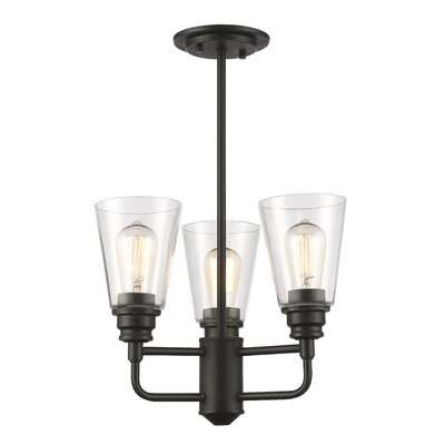 Clayton 3-Light Shaded Chandelier Finish: Olde Bronze