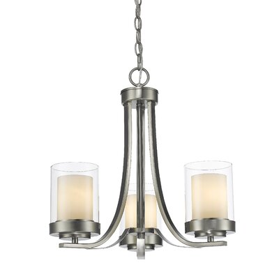 Cheyne 3-Light Candle-Style Chandelier Finish: Brushed Nickel