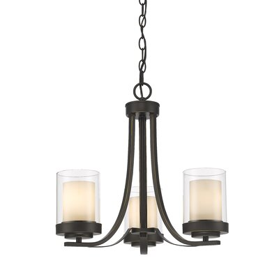 Cheyne 3-Light Candle-Style Chandelier Finish: Olde Bronze