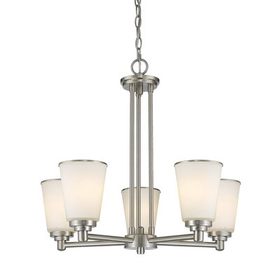 Hwang 5-Light Shaded Chandelier Finish: Brushed Nickel