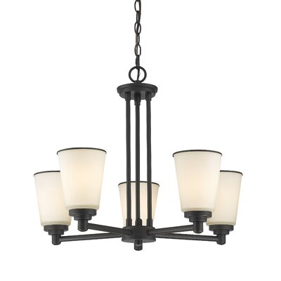 Hwang 5-Light Shaded Chandelier Finish: Bronze