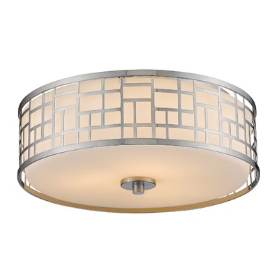 Elea 3-Light Flush Mount Size: 6.25 H x 16.25 W x 16.25 D