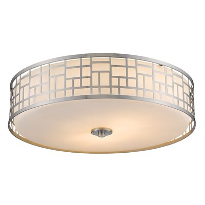 Hummer 3-Light Flush Mount Size: 6.5 H x 20.5 W x 20.5 D