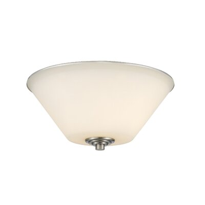 Jarra 2-Light Flush Mount Finish: Brushed Nickel