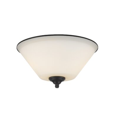 Hwang 2-Light Flush Mount Finish: Bronze