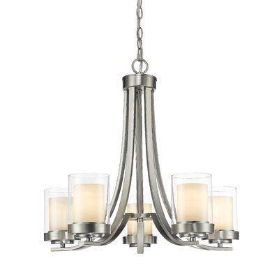Cheyne 5-Light Candle-Style Chandelier Finish: Brushed Nickel