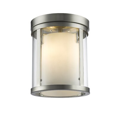 Cheyne 3-Light Flush Mount Base Finish: Brushed Nickel