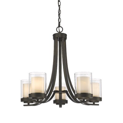 Cheyne 5-Light Candle-Style Chandelier Finish: Olde Bronze