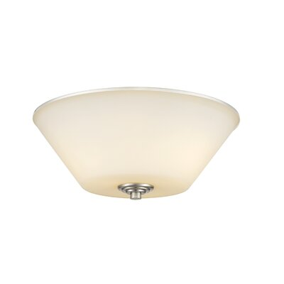 Hwang 3-Light Flush Mount Finish: Brushed Nickel