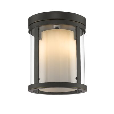 Cheyne 3-Light Flush Mount Base Finish: Olde Bronze