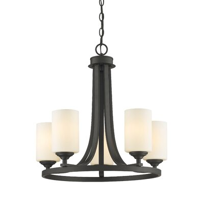 Beegle 5-Light Shaded Chandelier Finish: Bronze