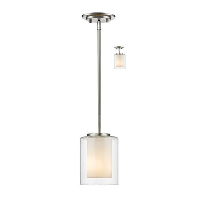 Cheyne 1-Light Mini Pendant Finish: Brushed Nickel