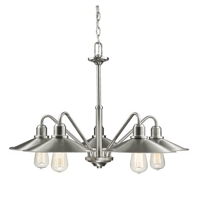 Casa 5-Light Shaded Chandelier Finish: Brushed Nickel