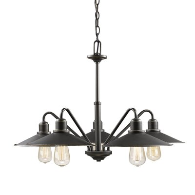 Cromartie 5-Light Shaded Chandelier Color: Olde Bronze
