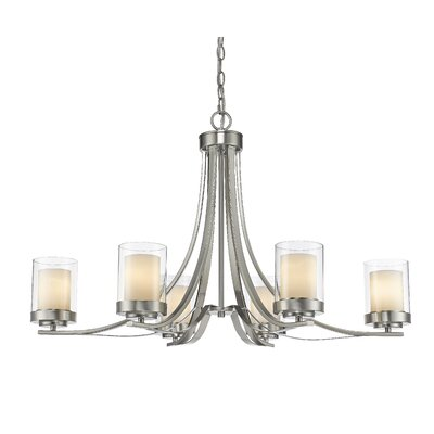 Cheyne 6-Light Candle-Style Chandelier Finish: Brushed Nickel