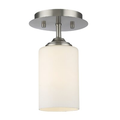 Beegle 1-Light Semi Flush Mount Color: Brushed Nickel