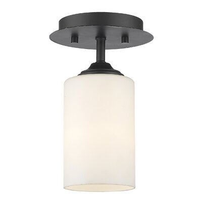 Beegle 1-Light Semi Flush Mount Finish: Bronze