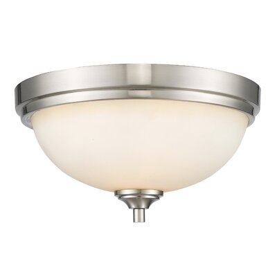 Bordeaux 2-Light Flush Mount Finish: Brushed Nickel