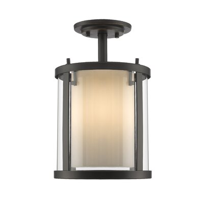Cheyne 3-Light Semi Flush Mount Base Finish: Olde Bronze
