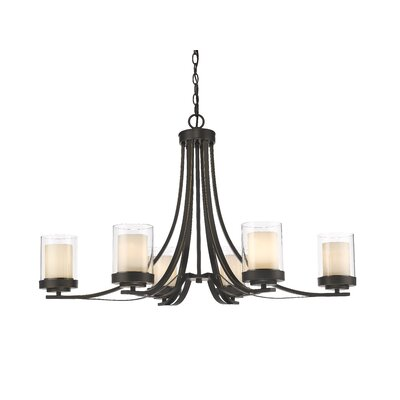 Cheyne 6-Light Candle-Style Chandelier Finish: Olde Bronze