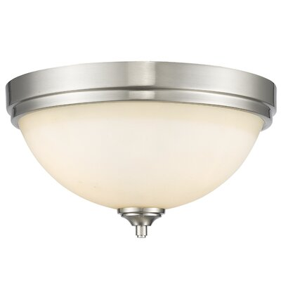 Bordeaux 3-Light Flush Mount Finish: Brushed Nickel