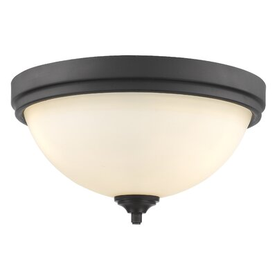 Beegle 3-Light Flush Mount Color: Bronze
