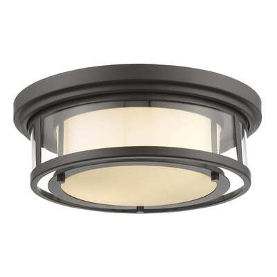 Ceniceros 2-Light Flush Mount Finish: Bronze