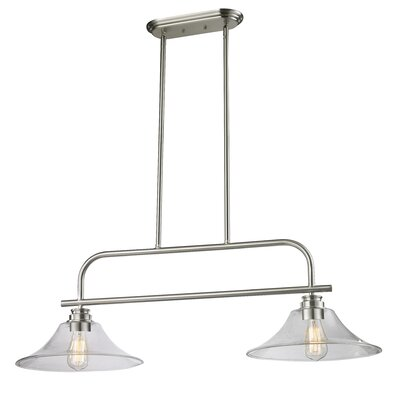 Clayton 2-Light Billiard Light Finish: Brushed Nickel