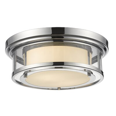 Luna 2-Light Flush Mount Finish: Chrome