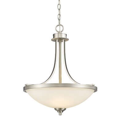 Beegle 3-Light Bowl Pendant Color: Brushed Nickel