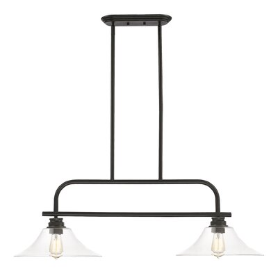 Clayton 2-Light Billiard Light Finish: Olde Bronze