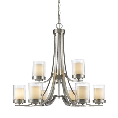 Cheyne 9-Light Candle-Style Chandelier Finish: Brushed Nickel