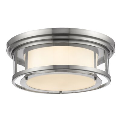 Ceniceros 3-Light Flush Mount Finish: Brushed Nickel